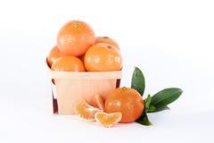 горизонтальные tangerines Стоковые Фото