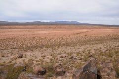 Горизонтальный взгляд Jornada de los Muertos в NM стоковые фотографии rf