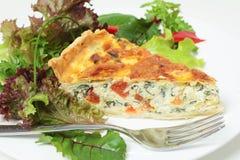 горизонтальный салат quiche Стоковая Фотография