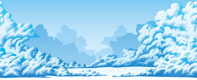 Горизонтальная безшовная предпосылка пушистых облаков Стоковое фото RF