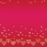 Горизонтальная безшовная текстура с сердцами Стоковое фото RF