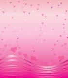 Горизонтальная безшовная текстура с сердцами Стоковые Фото
