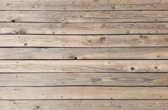 Горизонтальная деревянная предпосылка текстуры палубы планок Стоковая Фотография