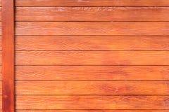 Горизонтальная деревянная предпосылка текстуры стены Стоковые Изображения