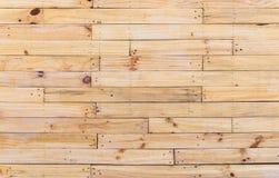 Горизонтальная деревянная предпосылка текстуры стены Стоковое Изображение