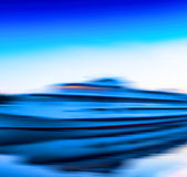 Горизонтальная живая moving абстракция движения корабля Стоковое Изображение RF