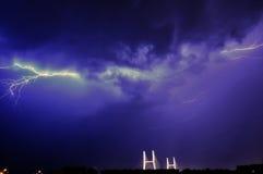 Горизонтальная молния Стоковые Изображения RF