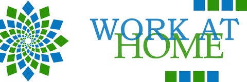 Горизонтальная надомного труда зеленая голубая круговая Стоковая Фотография RF