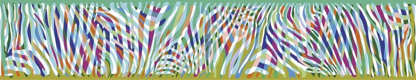 Горизонтальная предпосылка с красочной кожей зебры Стоковые Фотографии RF