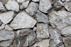 Горизонтальная текстура несимметричной каменной стены стоковая фотография rf