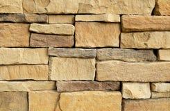 Горизонтальная текстура несимметричной кирпичной стены стоковое фото
