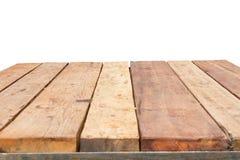 Горизонтальное фото старого года сбора винограда planked деревянная таблица в perspectiv Стоковое Изображение