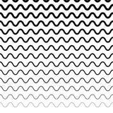 Горизонтально repeatable скачками волнистые линии Большая волна, ripply, ООН Стоковая Фотография RF