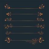 Горизонтальные бронзовые картины для того чтобы подчеркнуть надписи иллюстрация штока