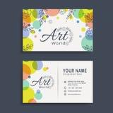Горизонтальные визитная карточка или комплект карточки посещения Стоковые Фотографии RF
