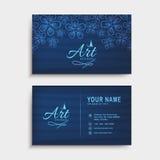 Горизонтальные визитная карточка или комплект карточки посещения Стоковая Фотография