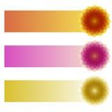 Горизонтальные знамена Стоковые Фотографии RF