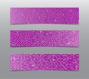 Горизонтальные знамена sequins пинка комплекта glitter бесплатная иллюстрация
