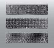 Горизонтальные знамена sequins серебра комплекта glitter бесплатная иллюстрация