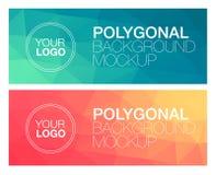 Горизонтальные полигональные знамена Стоковые Изображения RF