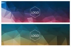 Горизонтальные полигональные знамена Стоковые Изображения