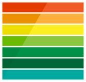 Горизонтальные прямоугольники, infochart баров, представление или знамя Стоковое Изображение RF