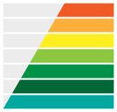 Горизонтальные прямоугольники, infochart баров, представление или te знамени иллюстрация штока
