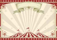 Горизонтальный винтажный цирк Стоковые Фото