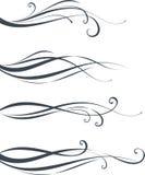 Горизонтальный дизайн переченя Стоковое Изображение