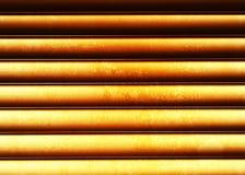 Горизонтальный металл заржавел предпосылка стены текстуры Стоковое Изображение RF