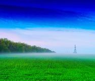 Горизонтальный яркий фон предпосылки линейного источника экологической энергии Стоковые Фото