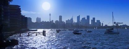 Горизонт Австралия гавани Сиднея Стоковое Изображение RF