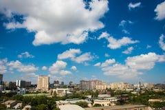Горизонт Баку во время Стоковое Изображение