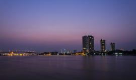 Горизонт Бангкока на зоре Стоковое Изображение RF