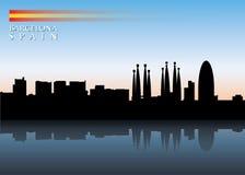 Горизонт Барселона Стоковые Фотографии RF
