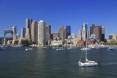 Горизонт Бостона, США стоковое изображение rf