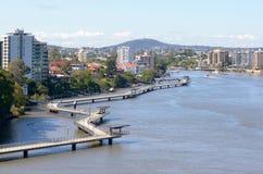 Горизонт Брисбена - Квинсленд Австралия Стоковое фото RF