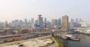 Горизонт Ванкувера воздушный около места Канады Стоковое Изображение RF