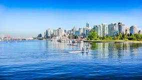 Горизонт Ванкувера с гаванью, Британской Колумбией, Канадой стоковые фотографии rf