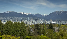 Горизонт Ванкувера Стоковое Фото