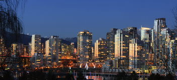 Горизонт Ванкувер Yaletown стоковое изображение rf