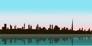 Горизонт вектора Дубай Стоковое Изображение RF