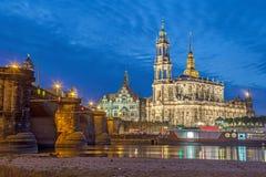 Горизонт в вечере, Германия Дрездена стоковые фото