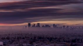 Горизонт в зиме, парк Калгари холма носа видеоматериал