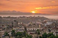 Горизонт Гавана на заходе солнца Стоковая Фотография RF