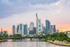 Горизонт Германии Франкфурта Стоковая Фотография RF