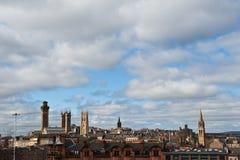 горизонт Глазго Шотландии Стоковые Фото