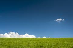 горизонт голубого зеленого цвета просто Стоковые Фото