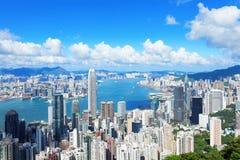Горизонт Гонконга Стоковые Изображения