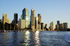 горизонт города Австралии brisbane Стоковое Фото